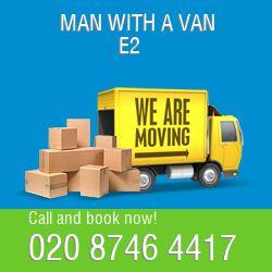 E2 2 men and van Shoreditch
