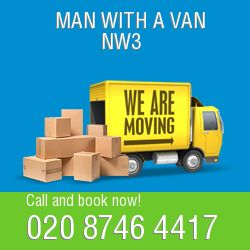 NW3 2 men and van Swiss Cottage