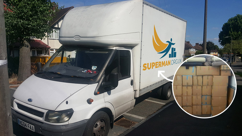 Removal Van Hire at Superman