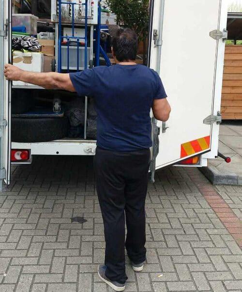 small van and man Camden
