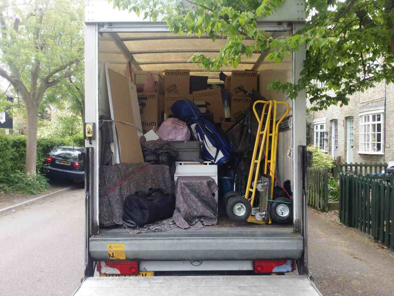 Ilford removal van costs